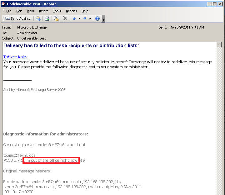 how to put auto reply in outlook 2007