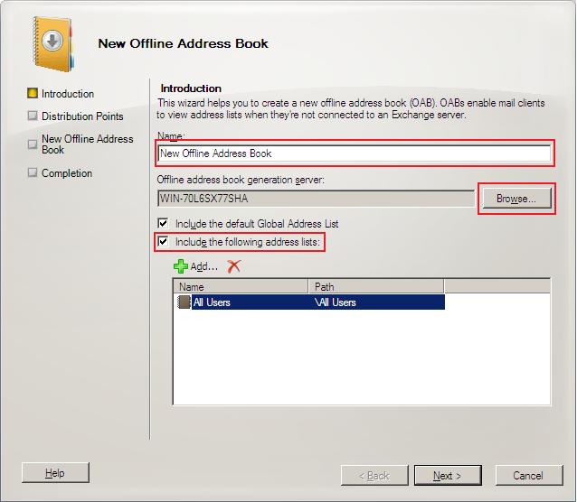 updating outlook address book