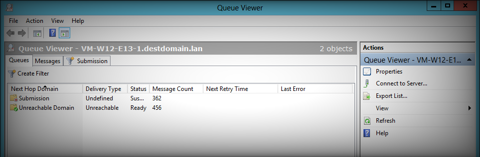 Queue Viewer lets you check the email queue on your Exchange server 2016/2013/2010.