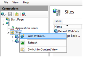 Bind IP address to website
