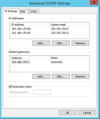 TCP-IP settings