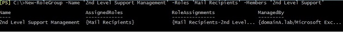 View assigned roles and role assignments using EMS cmdlet