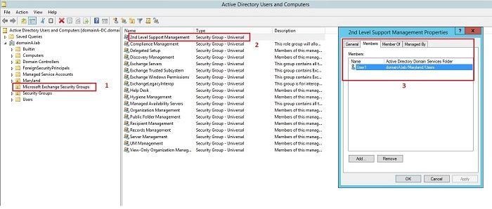 Admin Role reflected in Active Directory
