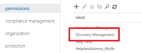 Accessing Discovery Management role group's properties