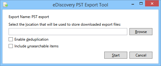 The eDiscovery PST export tool