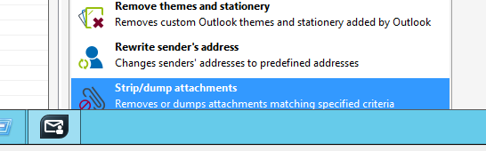 Adding the Strip/dump attachments action in CodeTwo Exchange Rules Pro