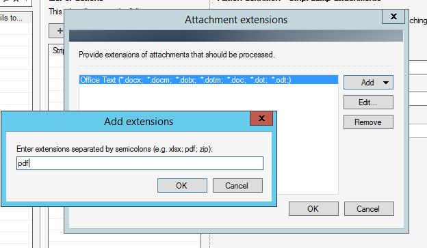Providing the .pdf extension