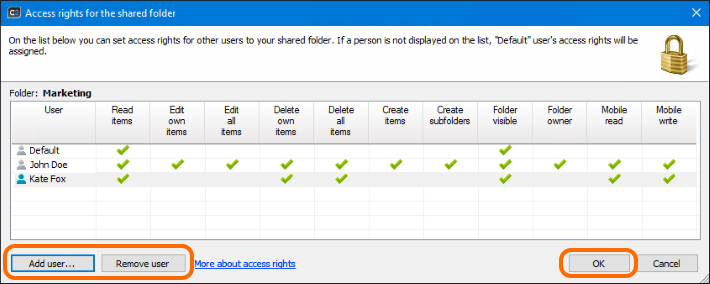how to connect to a shared folder in outlook 2010