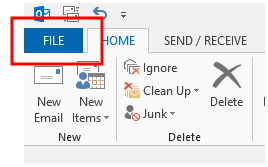 how to delete email account in oulook 2016