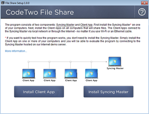 CodeTwo File Share - installation