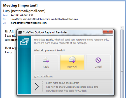 how to set reminder in outlook for others