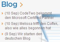 CodeTwo Blog in German