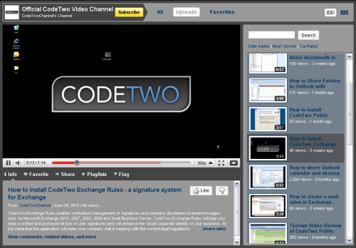 CodeTwo Channel on YouTube