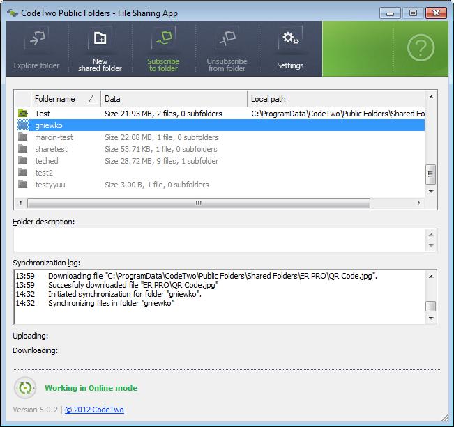 CodeTwo Public Folders File Sharing App
