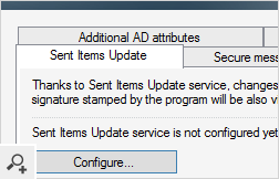 The Sent Items Update Service makes sure users will see their automatic email signatures in the Sent Items folder of their mail clients. This feature will not only make users feel more confident, but also helps the company fulfill legal regulations.