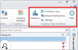 CodeTwo Task Workflow seamlessly integrates with Outlook and stays at hand all the time