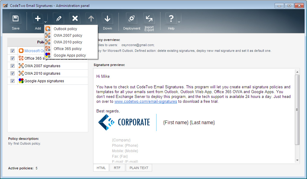outlook how to add a new email address