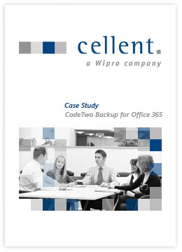 cellent AG using CodeTwo Backup for Office 365