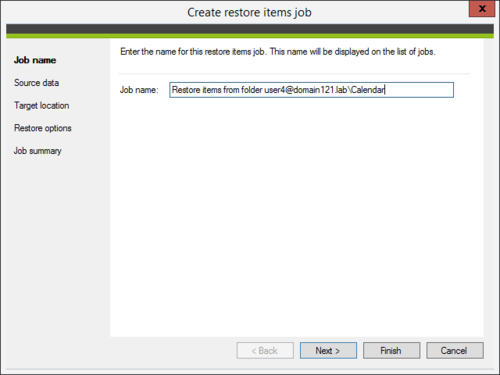 Backup - restore job name