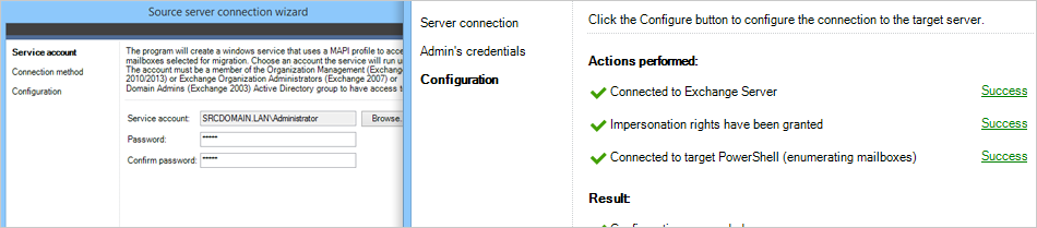 Establishing the server connection