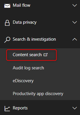 How to export Office 365 mailboxes to pst - Content Search