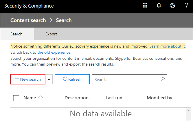 How to export Office 365 mailboxes to pst - New Search