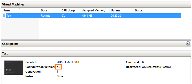 While importing the older version of the virtual machine to the new system, you can upgrade the configuration wizard .