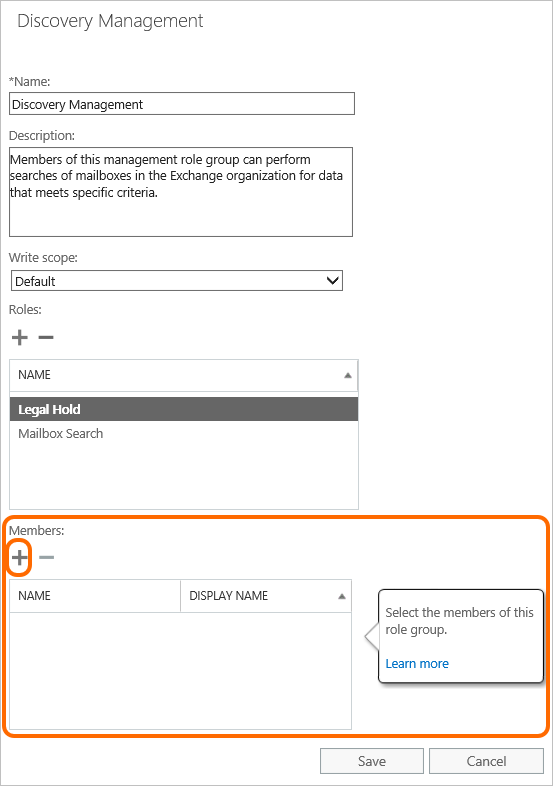 Discovery management in Office 365