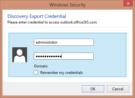 Enter admin's credentials