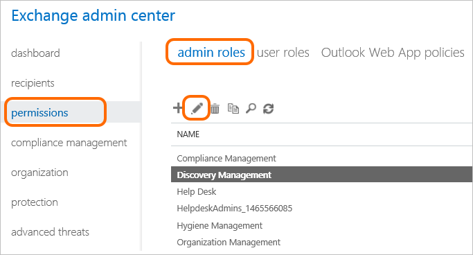 Permissions to perform eDiscovery in Office 365.