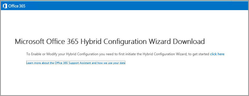 Exchange Hybrid Configuration Wizard - download link