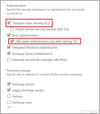 Office 365 Hybrid Configuration Wizard TLS connector