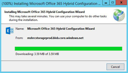 Exchange Hybrid Configuration Wizard - installation
