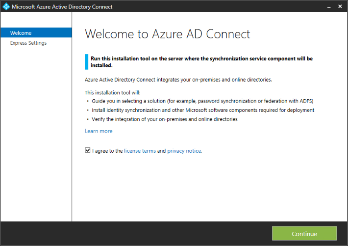 How to sync local AD to Azure AD with Azure AD Connect tool?