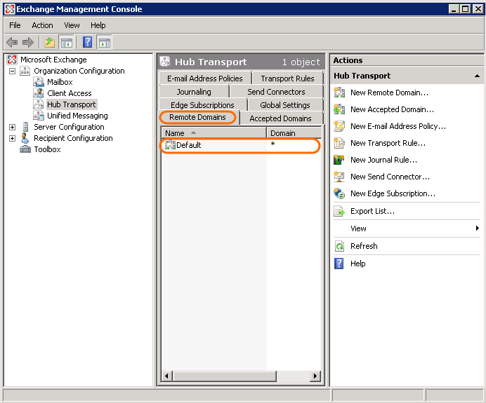 Set up a new Exchange Server 2007-2010 Hub Transport rule to block auto replies.