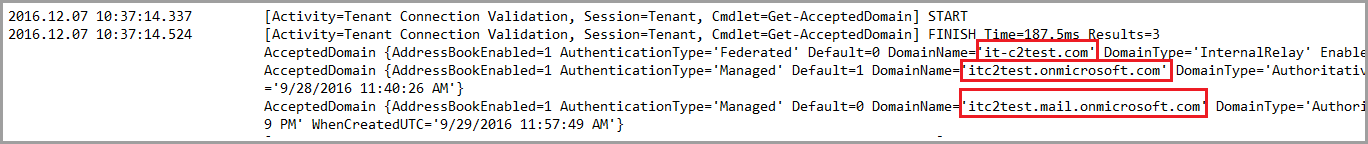 Exchange Hybrid Configuration Wizard Information on Office 365 configuration