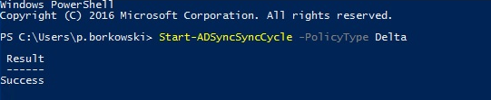 Start delta sync using PowerShell.
