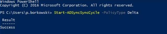 Start delta sync using PowerShell.