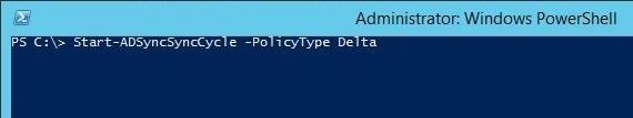 Cmdlet Start-adsync -policytype delta