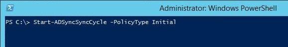 Cmdlet Start-adsync -policytype initial