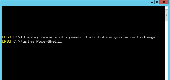 Display members of dynamic distribution groups using PowerShell