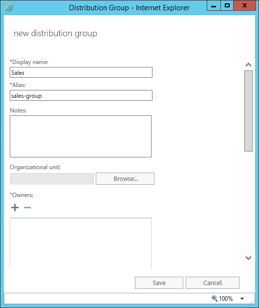 autoreply for distribution group new group