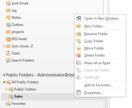 public folder auto reply 03 public folder properties