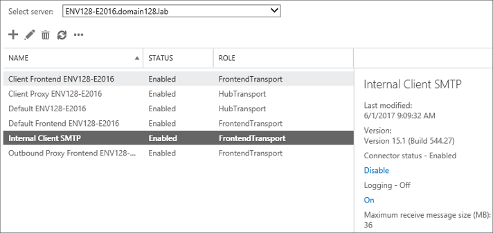 New FrontEndTransport connector