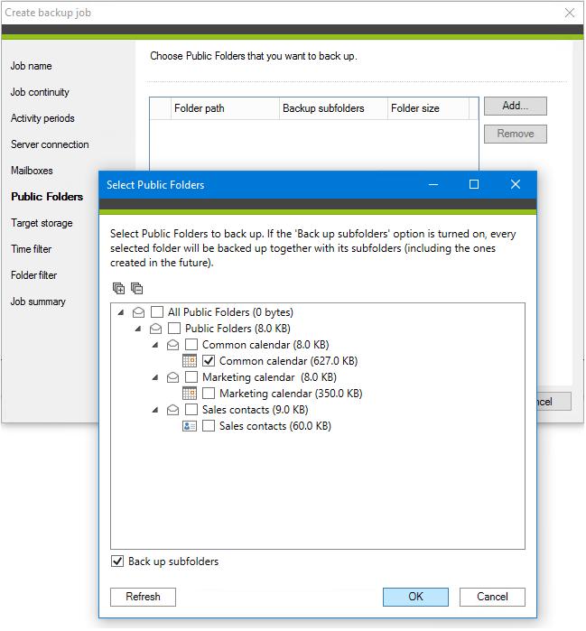 Select Public Folders