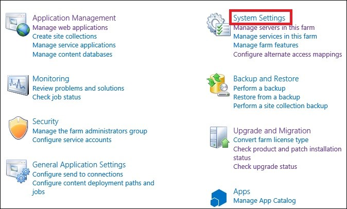 Exchange 2016 and Sharepoint integration system settings