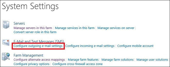 Exchange 2016 and Sharepoint integration outgoing email settings