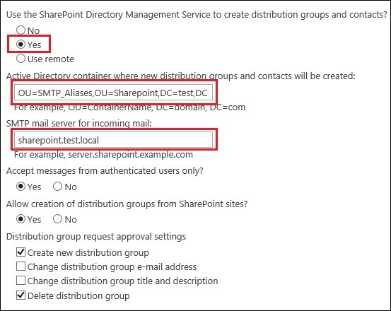 Exchange 2016 and Sharepoint integration 22