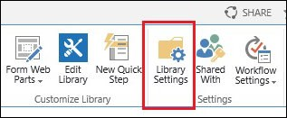 Exchange 2016 and Sharepoint integration Library settings