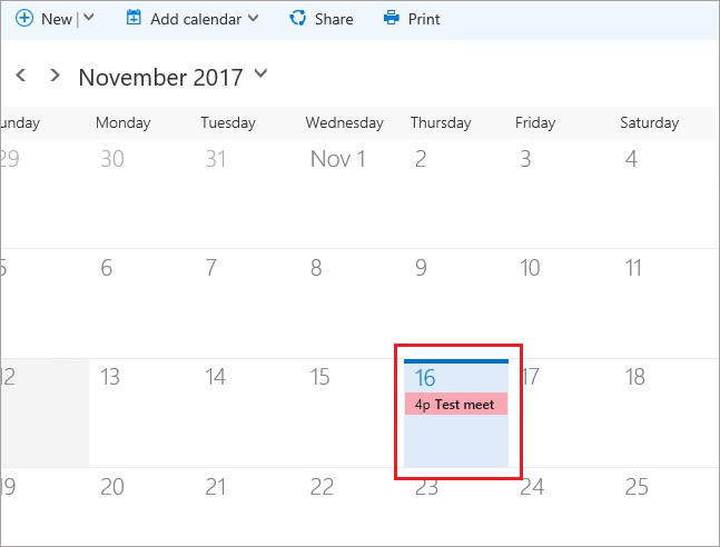 SharePoint and Exchange integration - calendar overlay 10
